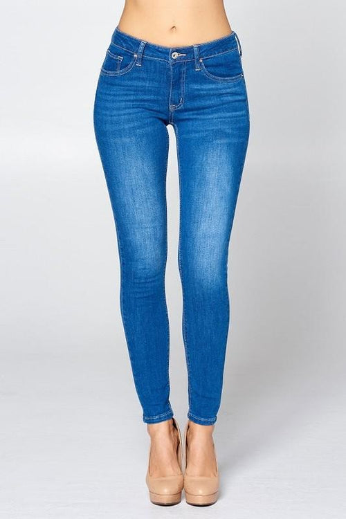 Rachel Mid Rise Skinny Ankle Jeans