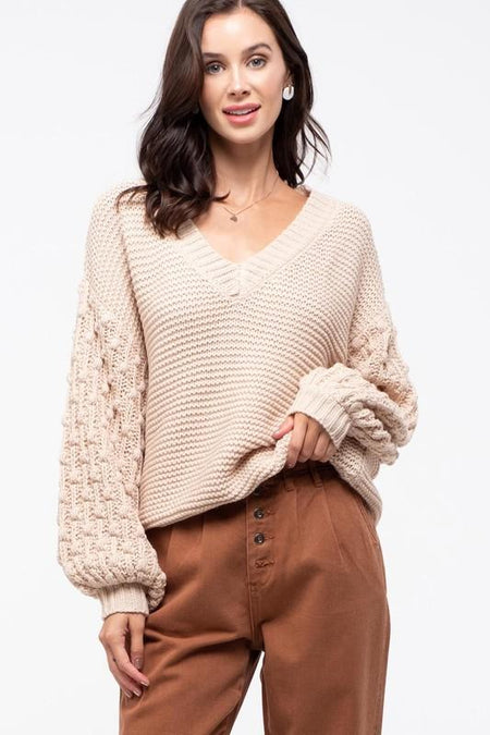 Ivory Cozy Super Star Sweater