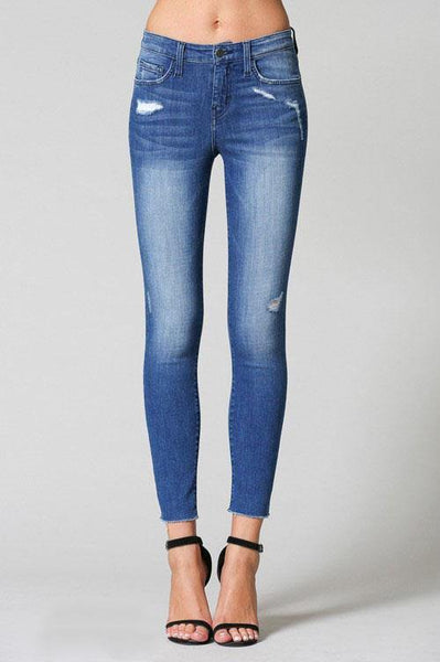 Bounce Mid Rise Crop Skinny Jean - THE WEARHOUSE