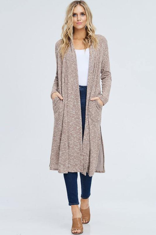 Long Taupe Cardigan