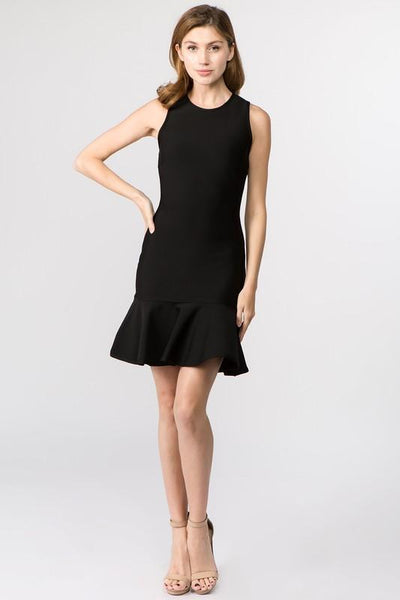 Black Sleeveless Short Bandage Dress - THE WEARHOUSE