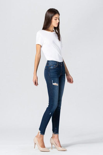 Susan Mid Rise Distressed Skinny Jeans