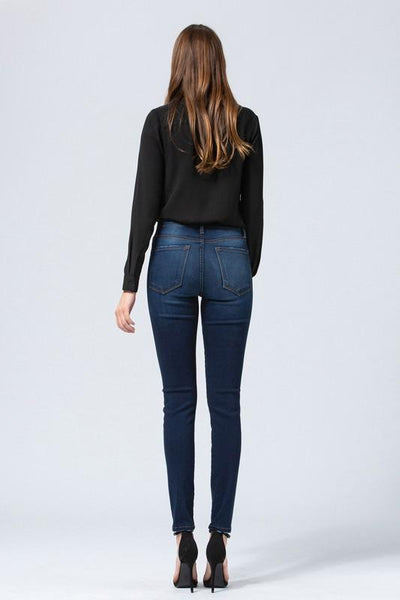 Helen Rise Dark Skinny Ankle Jeans - THE WEARHOUSE