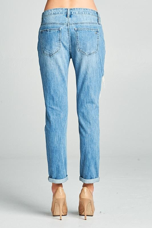 Big Hole Boyfriend Jeans - THE WEARHOUSE