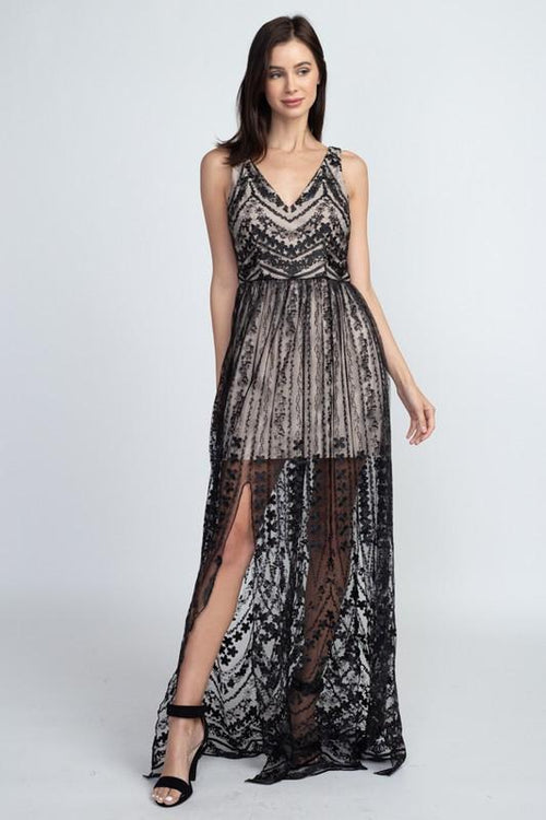 Houston Nights Black Layered Lace Dress - THE WEARHOUSE