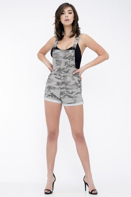 Camouflage Short Overalls