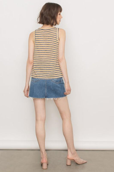 678ce699d46 Mustard and Navy Front Tie Tank – THE WEARHOUSE