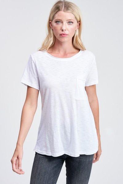 White Crewneck Tee - THE WEARHOUSE
