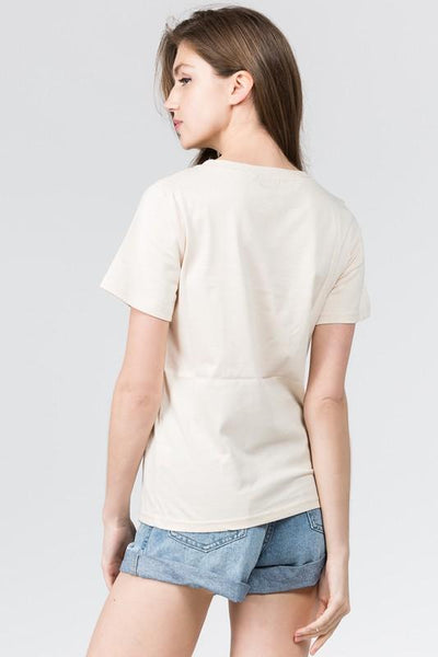 Nude Colored Pocket Tee