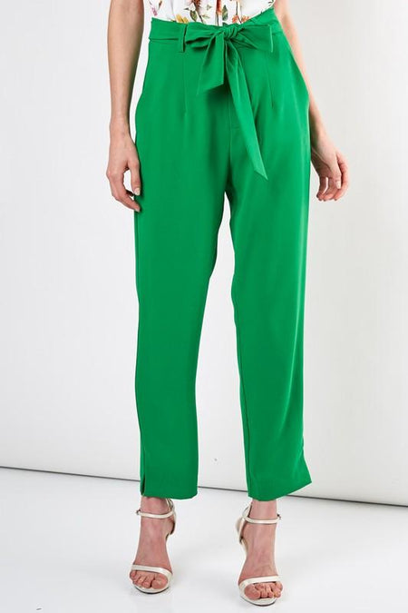 Black Wrap Tie Front Culotte Pants