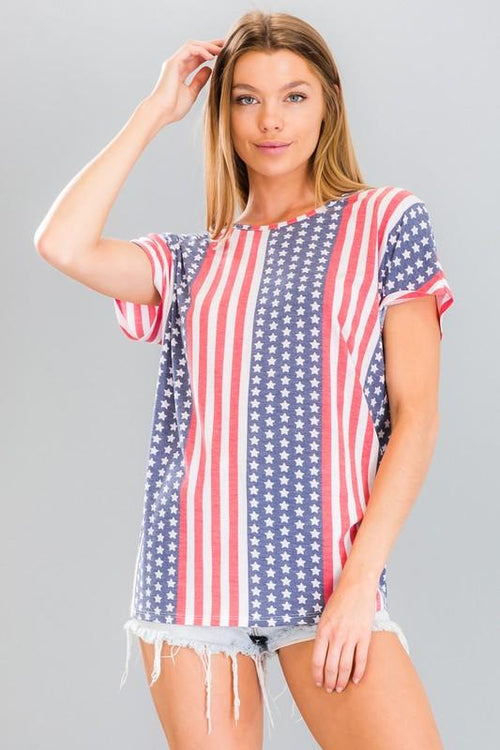 Stars & Stripes Strappy Back Tee