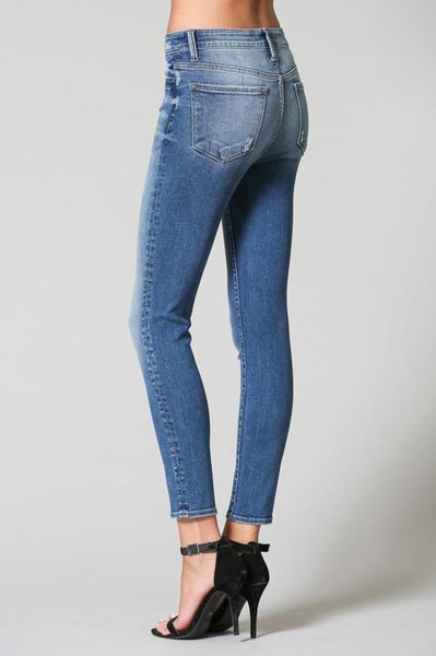 Beth Light Colored High Rise Crop Skinny Jeans