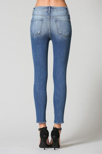 Beth Light Colored High Rise Crop Skinny Jeans - THE WEARHOUSE