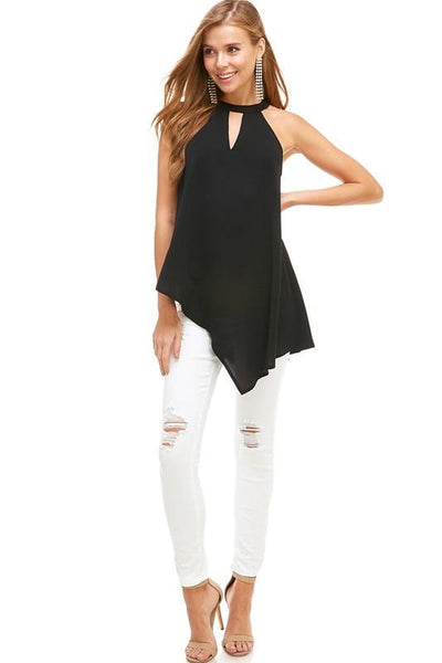 Victoria High Neck Top