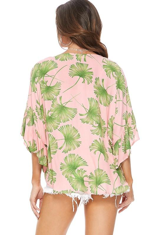 Pink Palm Tree Blouse
