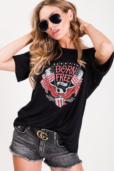 Born Free Spirit Loose Fit Top