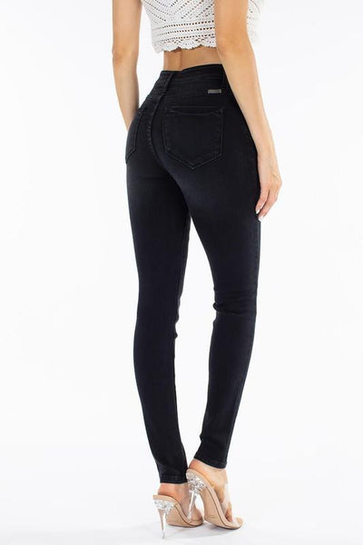 Hattie High Rise Black Super Skinny Jeans - THE WEARHOUSE