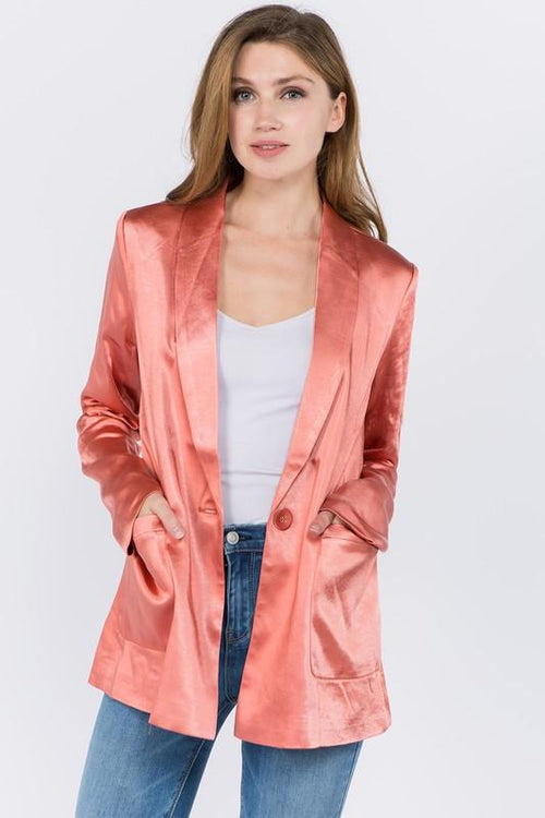 Clay Single Button Boyfriend Blazer