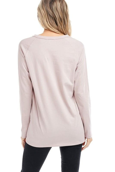 "Mauve Colored ""Darlin"" Graphic Top - THE WEARHOUSE"