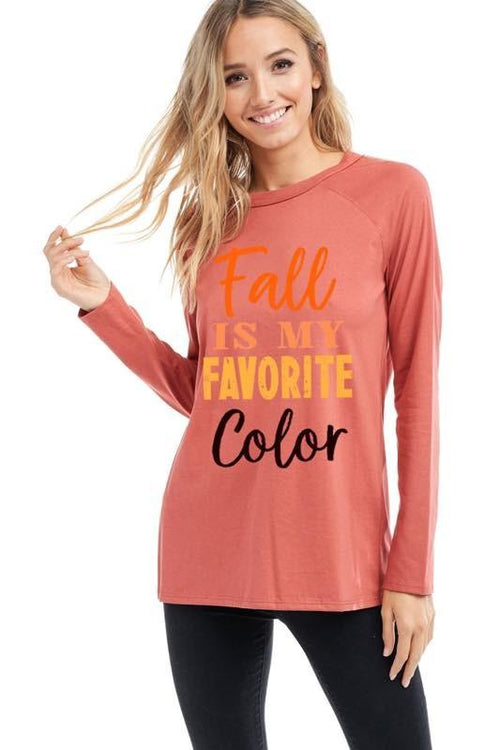 "Rust Colored ""Fall is My Favorite Color"" Sweatshirt"