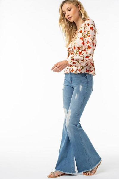 Angie High Waisted Retro Flare Jeans