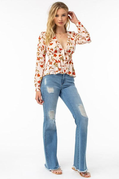 Angie High Waisted Retro Flare Jeans - THE WEARHOUSE