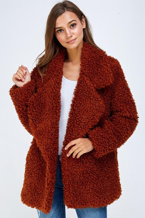 Red Super Soft Faux Jacket