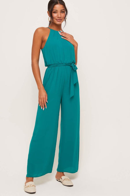 Black Cowl Neck Cami Jumpsuit