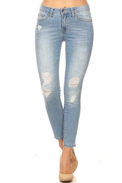 Molly Mid Rise Skinny Ankle Jeans - THE WEARHOUSE