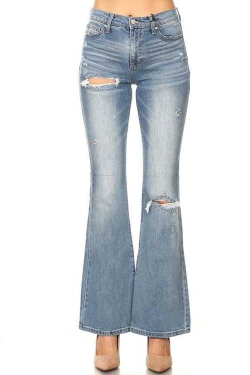 Vala High Rise Vintage Flare Jeans - THE WEARHOUSE