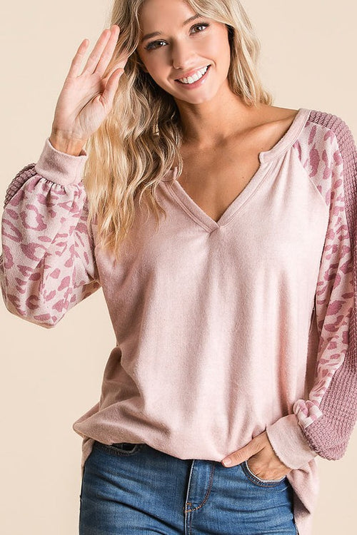 Blush Pink Leopard Top