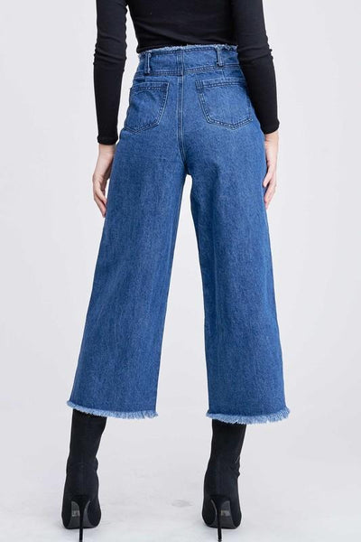 Regina Raw Edge Waist Detail Jeans