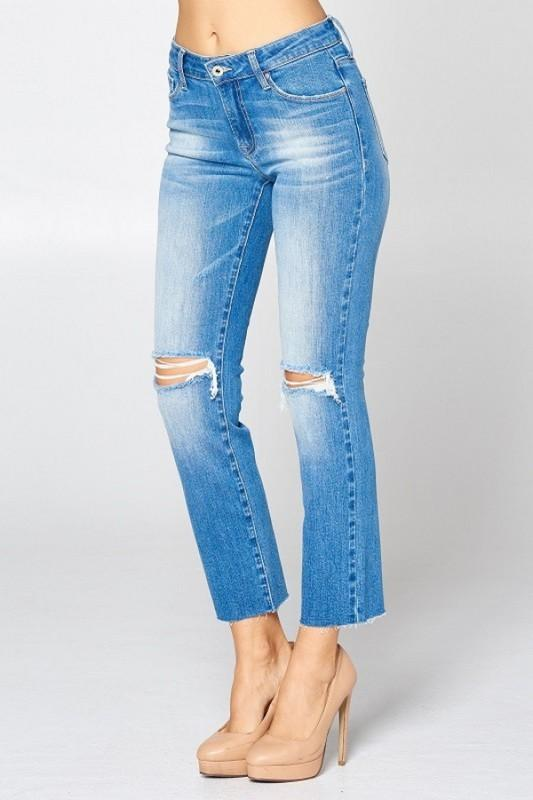 Marylin Mid Rise Straight Jeans - THE WEARHOUSE