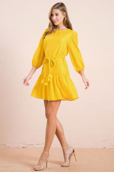 Sally Yellow Mini Dress