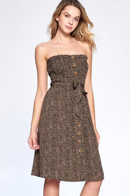 Jewled and Lace High Low Dress