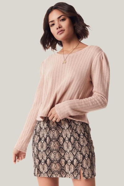 Snake Charmer Knit Skirt - THE WEARHOUSE