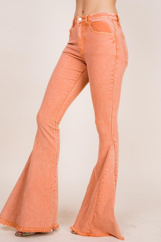 Light Rust Colored Summer Flare Pants - THE WEARHOUSE