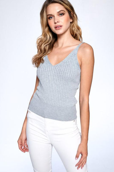 Heather Grey Amelia Knitted Camisole - THE WEARHOUSE