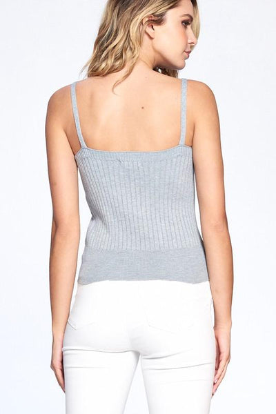 Heather Grey Amelia Knitted Camisole