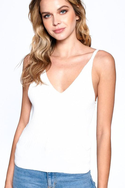 White Amelia Knitted Camisole