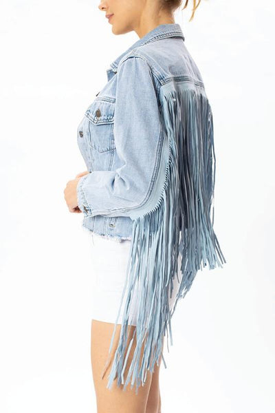 Olivia Tassel Denim Jacket - THE WEARHOUSE