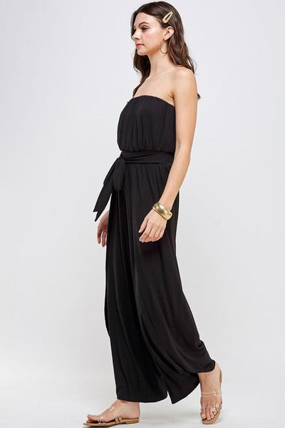 Bella Black Tube Jumpsuit - THE WEARHOUSE