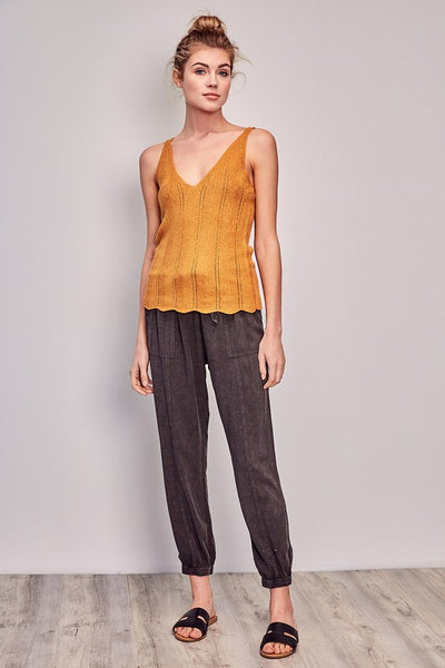Honey Colored Knit Tank Top