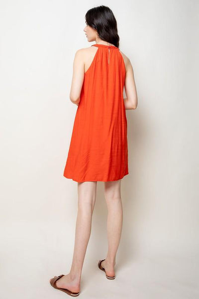 Red Halter Dress - THE WEARHOUSE