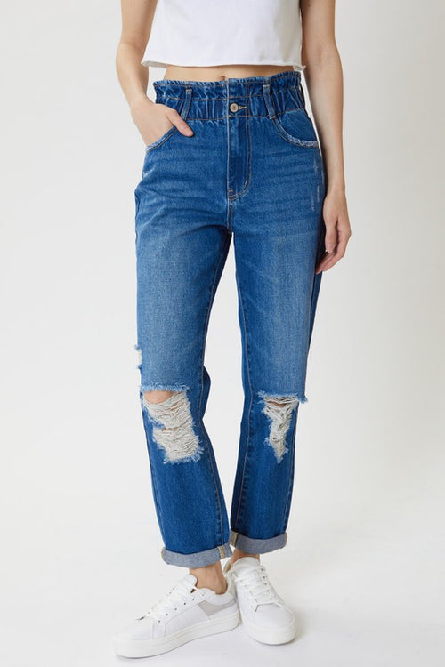 Suzanne High Rise Paper Bag Jeans