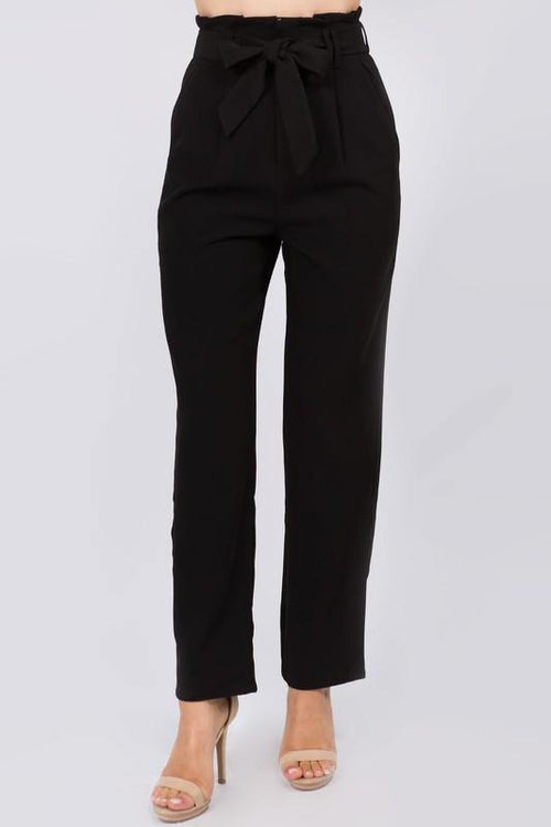 Black Belted Cargo Pants - THE WEARHOUSE