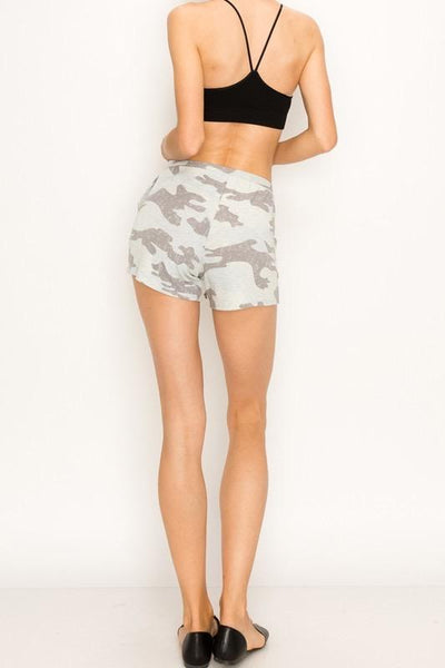 Heather Grey Camo Shorts with Pockets - THE WEARHOUSE
