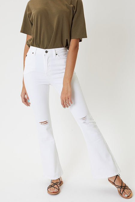 Sandra Mid Rise Button Fly Skinny Straight Jeans