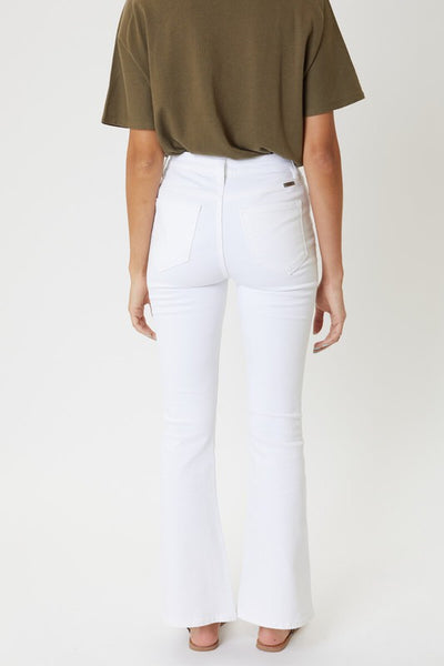 Waverly White Petite High Rise Bootcut Jeans