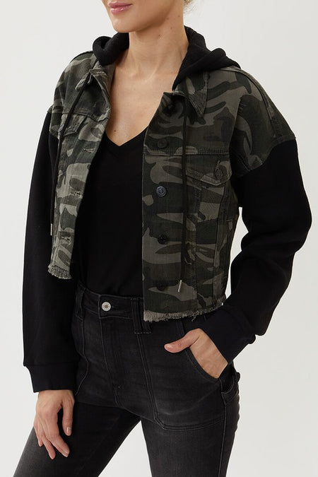 Black Raw Cut Denim Jacket
